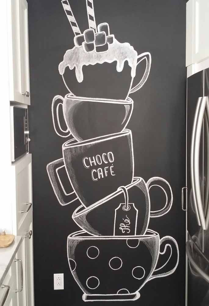 The blackboard ink is a good opportunity to perfect your drawing techniques. #blackboard #drawing #opportunity #perfect #techniques