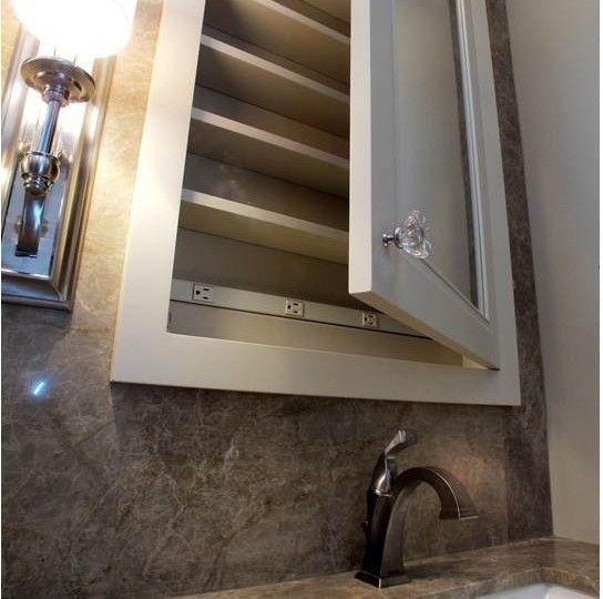 Dazzling Recessed Medicine Cabinets  vogue Columbus Traditional Bathroom Image Ideas with  granite countertops and backsplash
