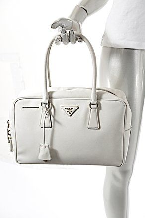 b944c20abbf8 Prada Sffiano Handbag Tote in Off White