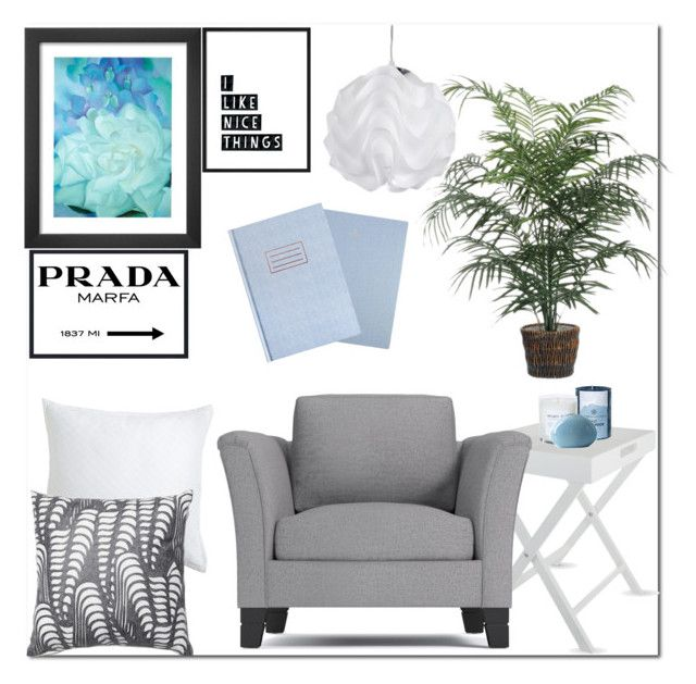 """""""Decor"""" by kayleedool on Polyvore featuring interior, interiors, interior design, thuis, home decor, interior decorating, The White Company, Chesapeake Bay Candle, Pier 1 Imports en Prada"""