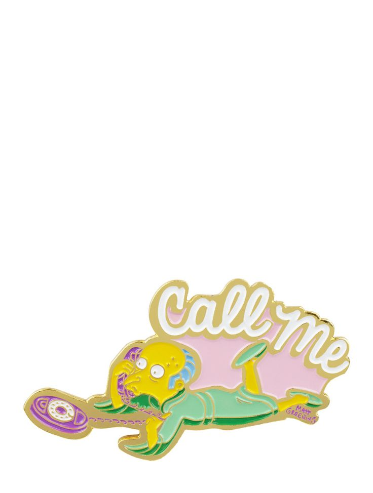 Mr Burns Enamel Pin | Skinnydip London - We offer our customers the chance to purchase high quality products for low affordable prices! Such as bespoke clothing pieces, trinkets and customisable phone cases.  Check them out now!