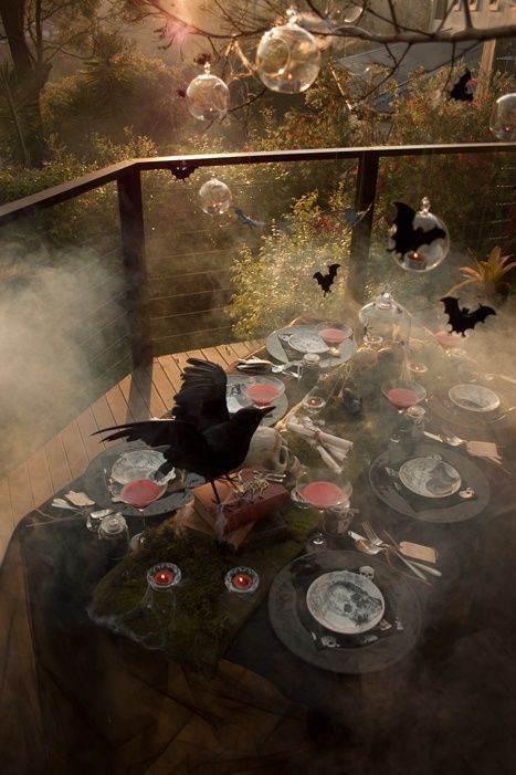 scary halloween tablescapes ideas for adults sophisticated halloween table settings decorations by style soiree - Adult Halloween Decorations