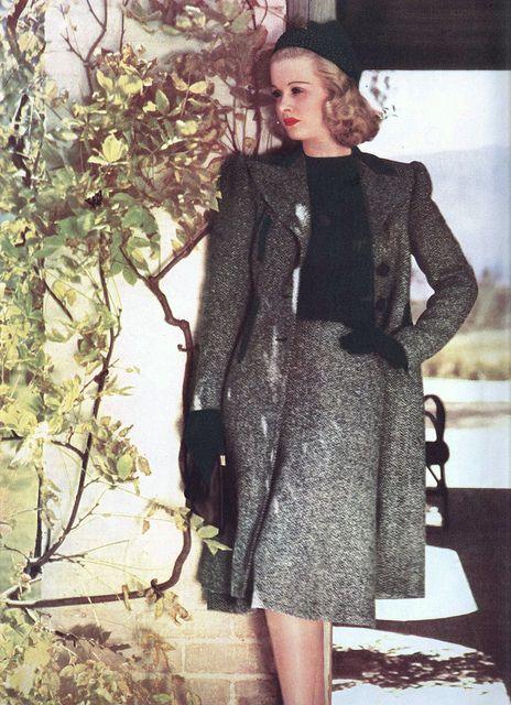 Joan Bennett in a design by Edith Head by Silverbluestar, via Flickr