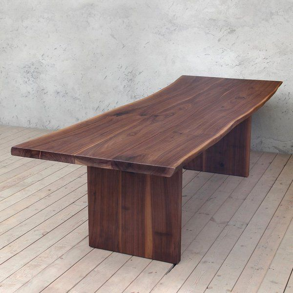 Millenium Solid Walnut Dining Table With Slab Legs Dining Table