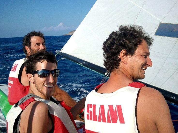1 Agosto. Al centro l'istruttore Riccardo Barone. #LNV2014 #Ventotene #corsidivela