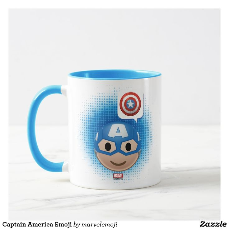 Captain America Emoji. Regalos, Gifts. Producto disponible en tienda Zazzle. Tazón, desayuno, té, café. Product available in Zazzle store. Bowl, breakfast, tea, coffee. #taza #mug