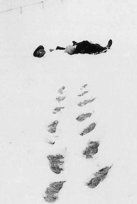 Robert Walser dead in the snow