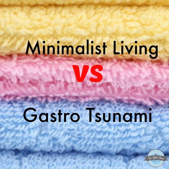 Having a minimalist approach to the home is great but read what happens when a gastro bug hits the house http://www.geeyourebrave.com/2014/09/minimalist-living-vs-gastro-tsunami.html