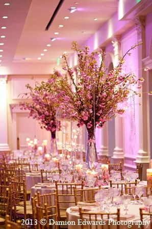Indian Wedding Reception Decor Floral Pink