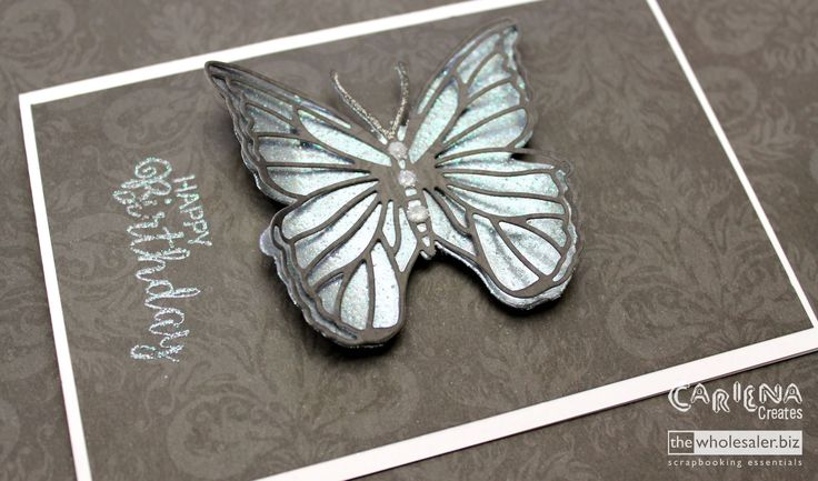 Please give us a thumbs up for the Heat Embossed Butterfly video, and subscribe to our YouTube channel  #UltimateCrafts #CarienaCreates #LadyPatternPaper
