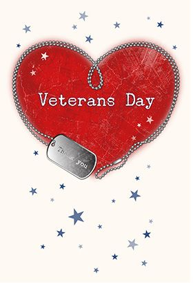 """Veterans Day appreciation"" printable card. Customize, add text and photos. print for free!"