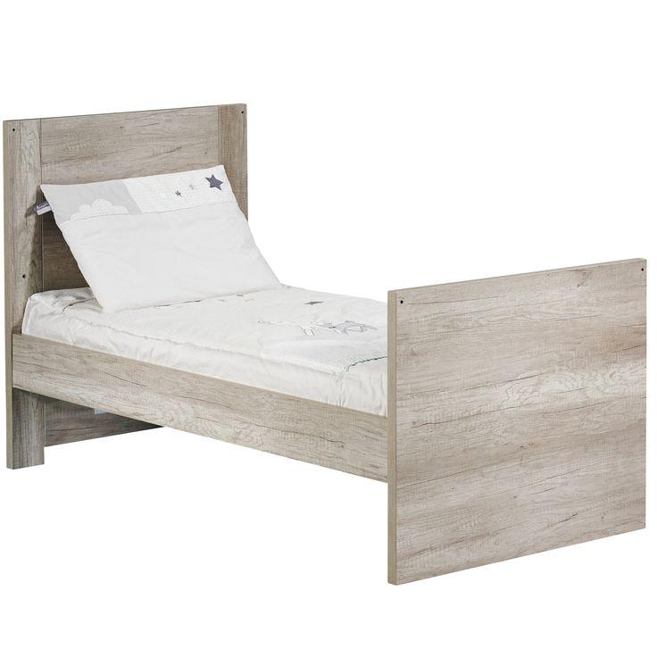 Emmy Little Big Bed 70x140 Chêne 70x140 de Sauthon Sélection, Lits 70x140 évolutifs : Aubert