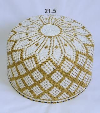 Golden Kasab and White Topi - Size 21.0 and 21.5