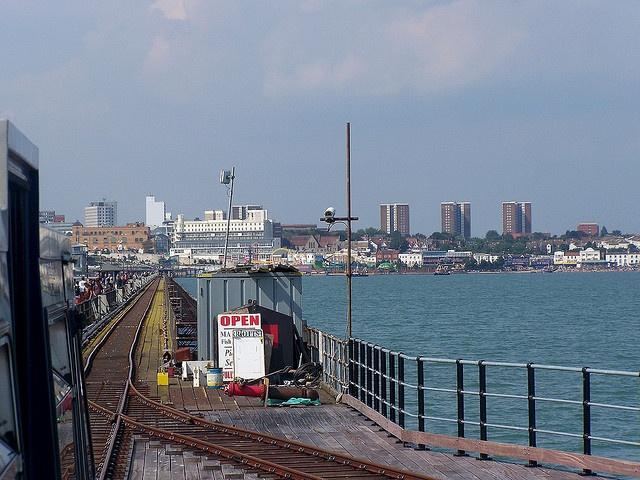 Southend Pier, the longest in the world. Essex, England. Spent many hours of my youth playing on the beach and we would walk the length of the pier.