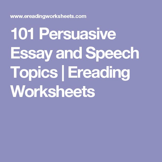 good topics to do a persuasive essay on Therefore, kids have to do research before writing a persuasive essay   selection of a good topic for persuasive essay becomes a really important aspect  if you.