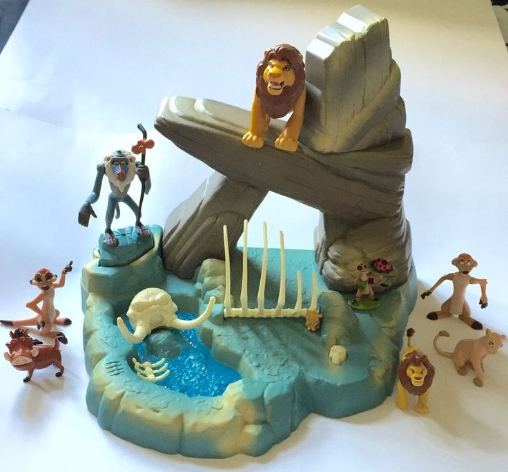 Vintage 1994 Mattel The Lion King Pride Rock Playset Disney Toy w Box Play Set | eBay