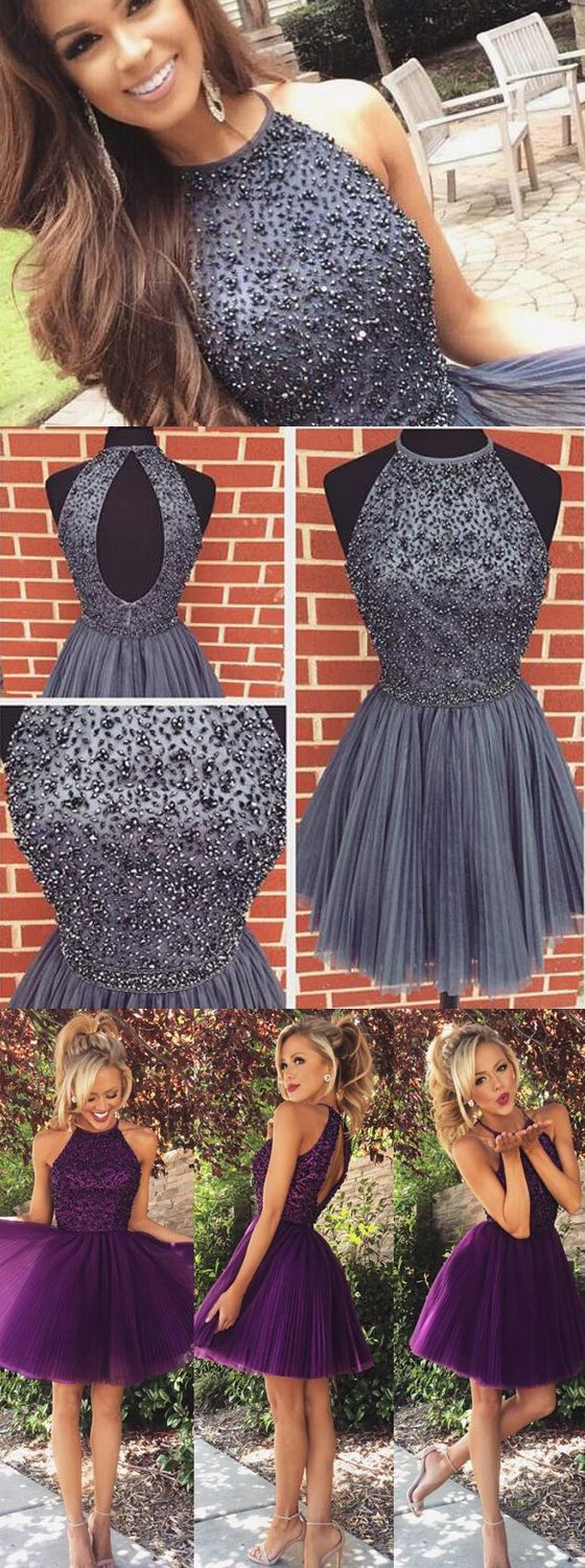 The homecoming dress is fully lined, 4 bones in the bodice, chest pad in the bust, lace up back or zipper back are all available, total 126 colors are available.This short prom dress could be custom m..