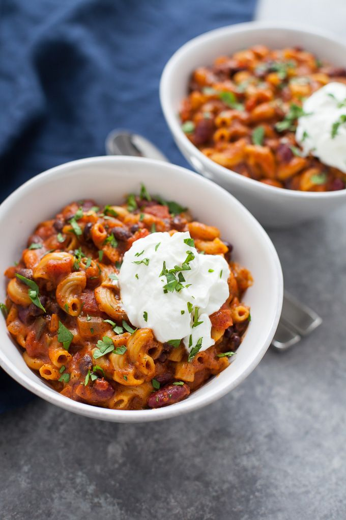 Easy Instant Pot Vegetarian Chili Mac The Foodie Dietitian Recipe Healthy Instant Pot Recipes Vegetarian Chili Vegetarian Chili Easy