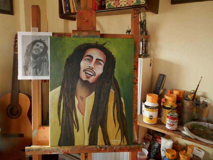 ''Bob Marley''   Ακρυλικό σε καμβά