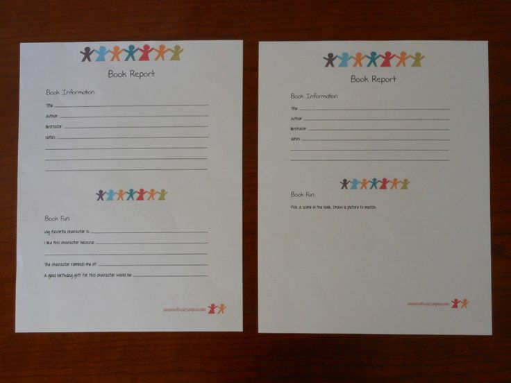 Great idea! Book Report Templates for kids... free printables.