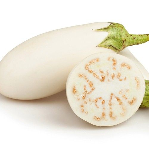 EGGPLANT SNOWY :: 25 seeds via Green Seed Tasmania. Click on the image to see more!