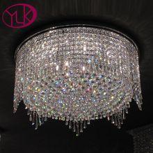 Youlaike Modern Luxury Crystal csillár Nappali nagy kerek lakberendezési csillárok lámpák LED Crystal Lights (China)