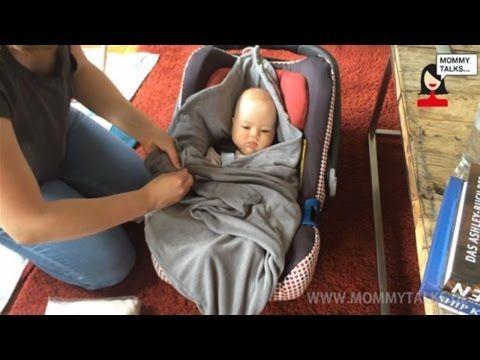 "Maxi Cosy Decke, Decke für Babyschale selber nähen, ""Manolo"" - Kuscheldecke nähen - YouTube"