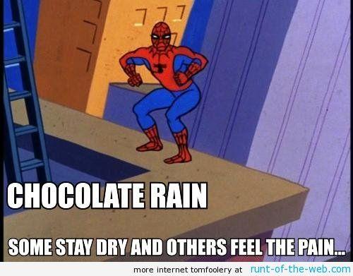 60's Spiderman meme also Tay zonday lyrics