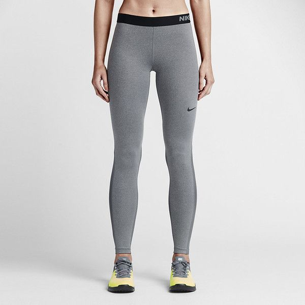 Nike Pro Women's Training Tights. Nike.com ($48) via Polyvore featuring activewear, activewear pants, nike sportswear, nike activewear, nike activewear pants and nike