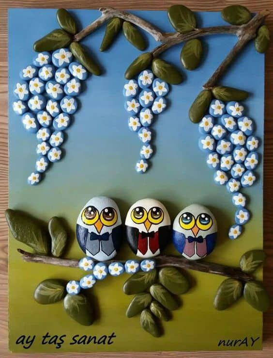 Awesome Painted Pebble Art Ideas Simple Craft Ideas Rock Crafts Pebble Art Stone Crafts