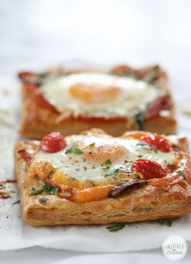 Breakfast Pies - so simple to make for a quick, but fancy breakfast. Vary the ingredients to suit your tastes.