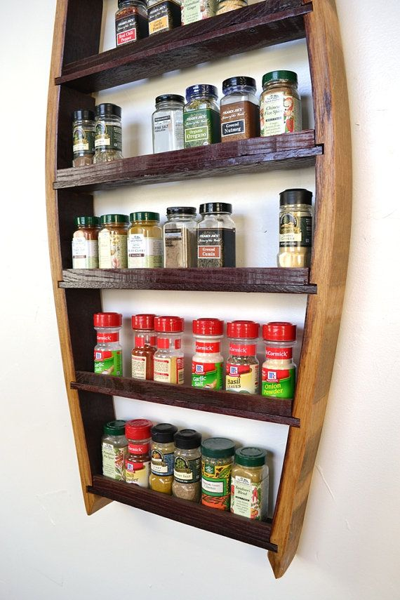 SPICE RACK Big Thyme Extra Large Spice by winecountrycraftsman. Made from Napa Wine barrels