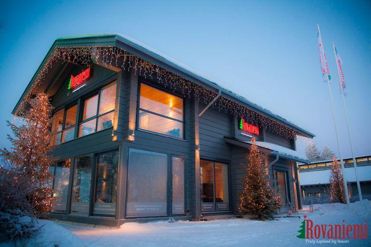 Kieppi –Rovaniemi Log House Head Office in Winter