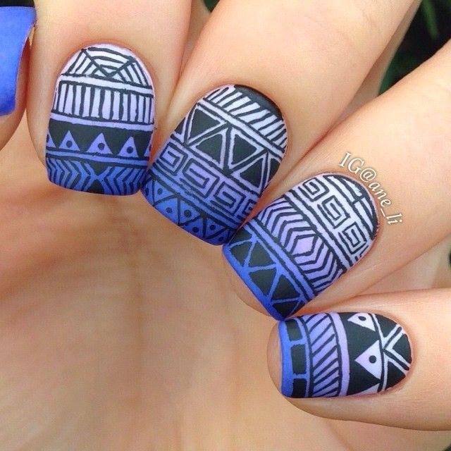 @ane_li brings a cool gradient and bold tribal design together.