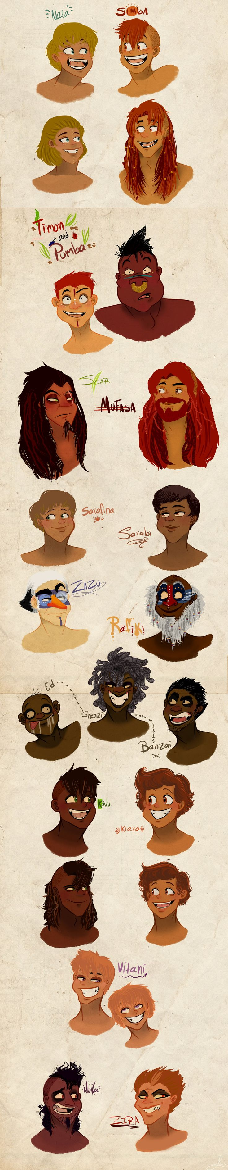 Humanized Lion King Characters - Makeup/Costume Inspiration