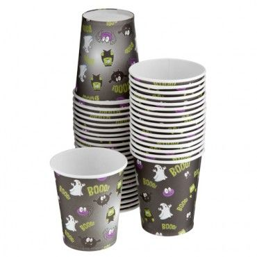 Halloween Party Paper Cups 40 Pack - Halloween Party Decorations - Halloween