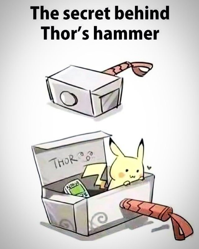 The secret behind #Thor's hammer? A #Pikachu & a #Nokia mobile phone .. obviously!   #Pokemon