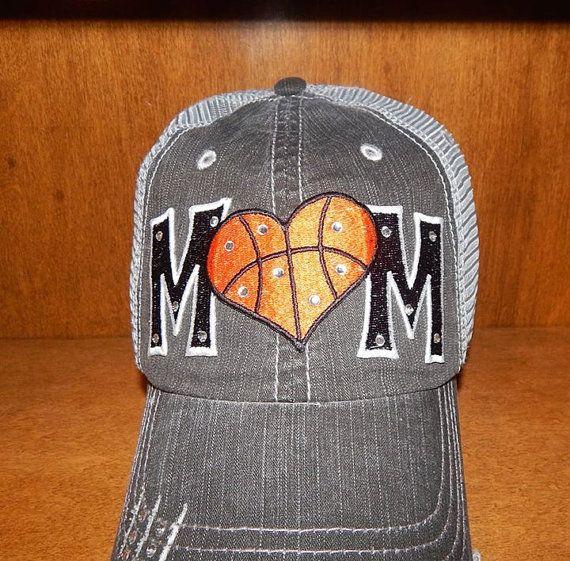 Basketball Mom Heart Hat by RebelChicks on Etsy