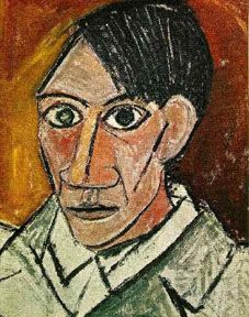 The development of cubism can be attributed to two men, George Braque and Pablo Picasso. They worked side by side in the same studio during their cubist period, and their work was almost indistinguishable.   Pablo Picasso Self Portrait, cubist period