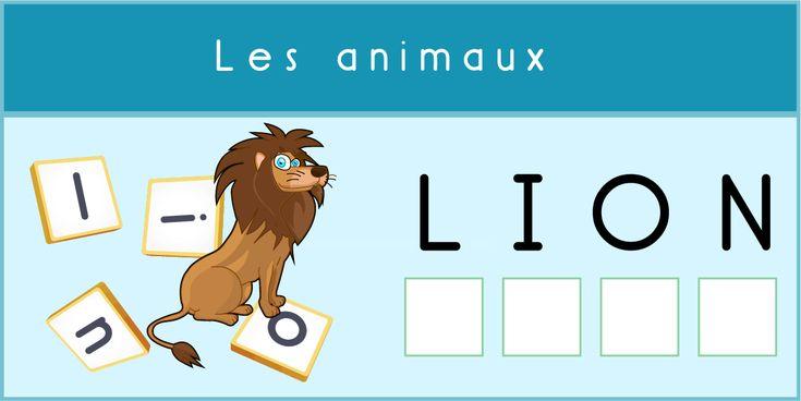 Découvrir l'écrit Positionnement des lettres Lecture Animaux - Faciliter l'acquisition de la latérisation et apprendre à comment assembler syllabes & lettres.