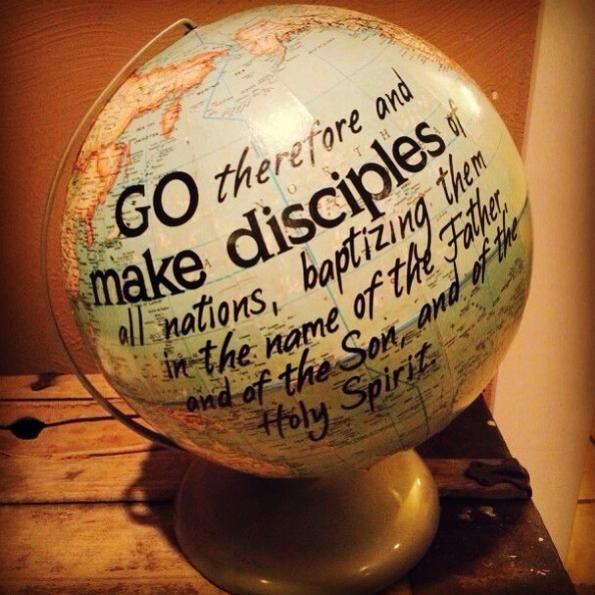I love globes and maps, and this is great scripture! Going to make this!