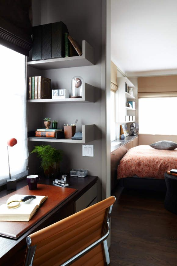 Small study nook in bedroom