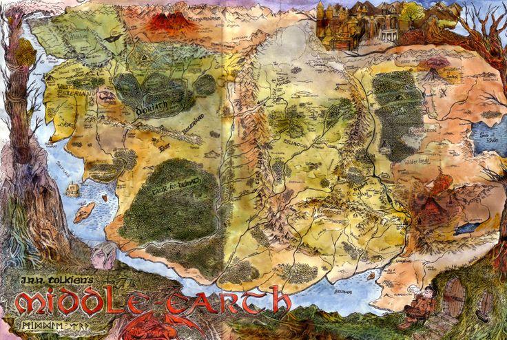 Midden Aarde inclusief het verloren gedeelte