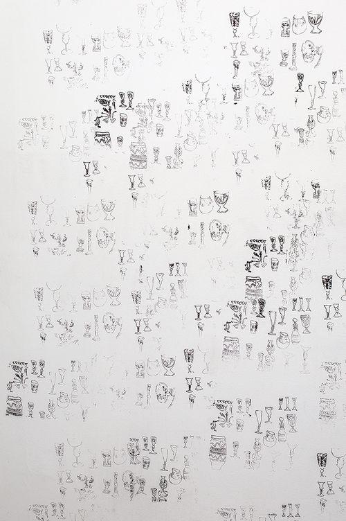 Natsuko Uchino Silk screen on wall Variable dimensions