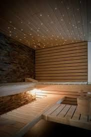 Sauna for apartment, with fibre optic lights in ceiling!
