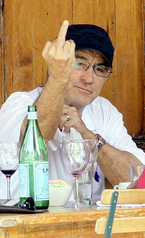 Robert De Niro giving the Finger