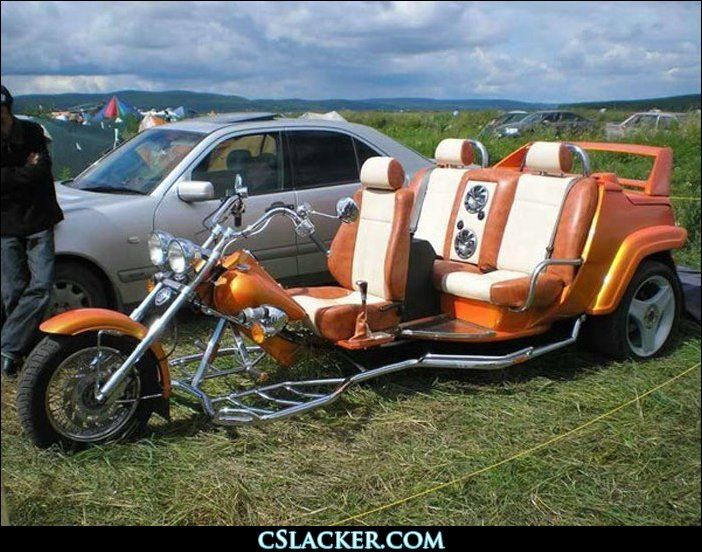 three seater motorcycle maybe even cooler than a two seater room for my purse lol scott k. Black Bedroom Furniture Sets. Home Design Ideas