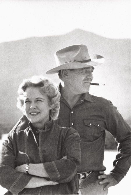 """Clark Gable and his fifth wife, Kay, photographed on the set of """"The Misfits"""" by Eve Arnold, 1960."""
