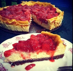 New Yorki sajttorta eperrel, recept