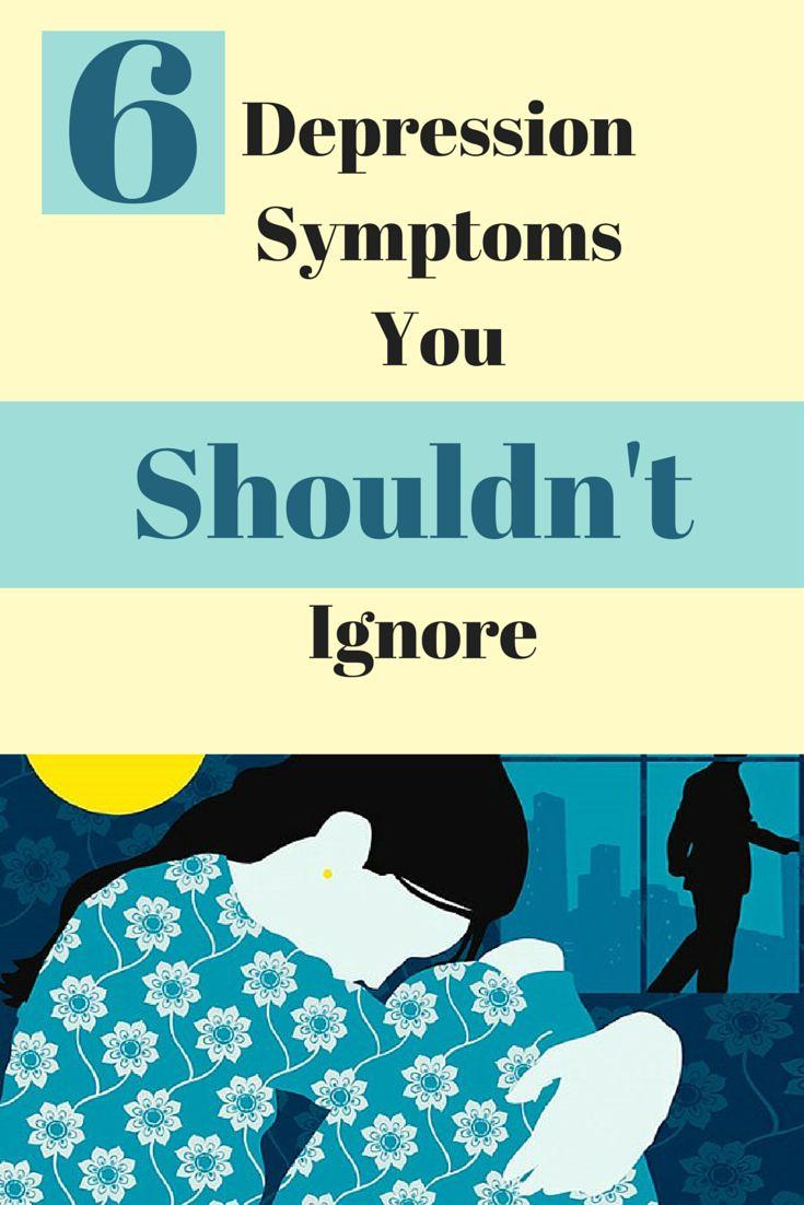 6 depression symptoms you shouldn't ignore (like trouble sleeping). #mentalhealth